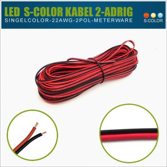 LED MC Kabel 2-Pol AWG22 - Meterware