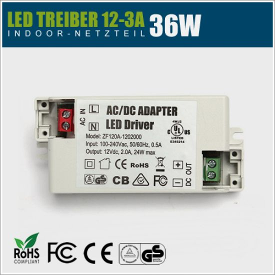 12V LED Treiber 36W - 3A IP20