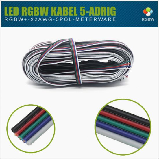 LED RGBW Kabel 5-Pol AWG22 (Meterware)